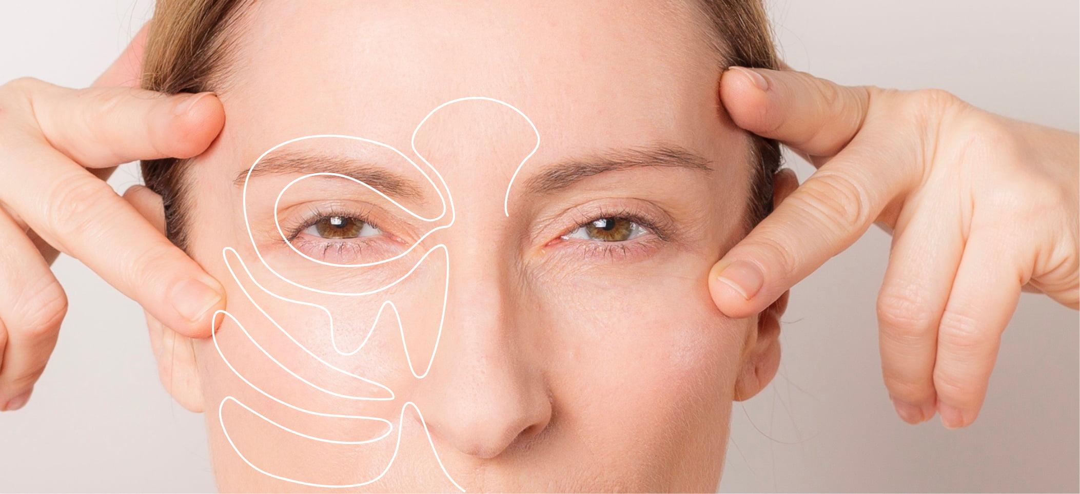 Ira Ganas mit der Face Yoga Übung Eye Flex
