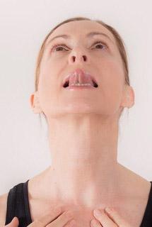 FaceYoga Pose neck pain Ira Ganas